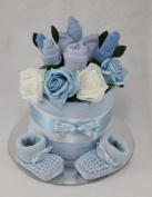 Baby Boy Clothes Flower Bouquet Nappy Cake New Born Baby Shower Gift