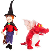Room On The Broom 38cm Witch and 23cm Dragon - Plush Soft Toy Plush - Set of 2