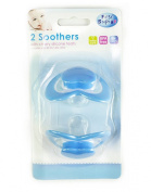 First Steps Pack of 2 Dummies with Cherry Teat in Blue