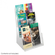 Safco Products Acrylic 3 Pocket Magazine Display, Clear, 5635CL