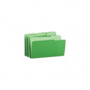 Universal 15302 Recycled Interior File Folders, 1/3 Cut Top Tab, Legal, Green, 100/Box