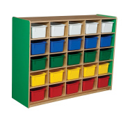 Healthy Kids Colours WD16003G Green Apple 25 Tray Storage with Assorted Trays