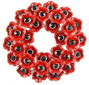 Angélys Poppy Wreath Brooch