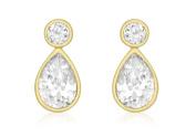Carissima 9ct Yellow Gold CZ Teardrop Earrings