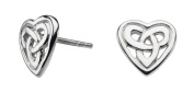 Heritage Sterling Silver Celtic Heart Stud Earrings