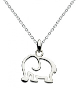 Dew Sterling Silver Elephant Necklace of 18 Inch on 45.7cm Chain 9040HP