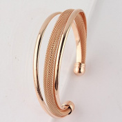 Genuine Rose Gold Jewellery 18ct Real Gold Plated Mesh Bangle Bracelet Great gift for all youre loved ones