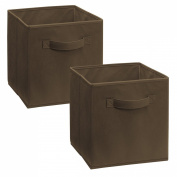 ClosetMaid Cubeicals Fabric Drawer, Dark Brown, 2-Pack