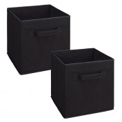 ClosetMaid Cubeicals Fabric Drawer, Black, 2-Pack