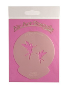 """ Fairies "" Cupcake Stencil - Reusable Flexible Food Grade Plastic Stencil for Cake and Craft Design, Airbrushing and more"