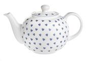 Nina Campbell Blue Hearts Design Teapot, 900ml