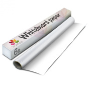 Whiteboard Drawing Paper Roll. Easy-Stick, Removable. Ideal For Children, Planning Boards, Message, Bulletin, & Artist Drawing Boards. 1.8m x 46cm .