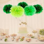 Craft Pom Poms Paper Balls -- Decorations for Crafts Pom-poms (Set of Small Medium Large) -- Yazycraft