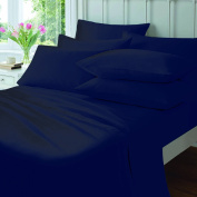 Love2Sleep EGYPTIAN COTTON HOTEL QUALITY NAVY BLUE FLAT SHEET - KING BED SIZE