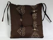 Soleil d'Ocre Courchevel Padded Chair Cushion Chocolate