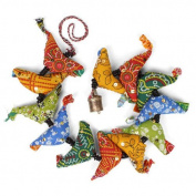 Fabric Birds Dangley Fair Trade Colourful Tota Hand Made Mobile