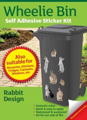 Wheelie Bin Self Adhesive Sticker Kit, Rabbits Design