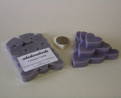 WHICKSNWHACKS 10 HEART Shaped LAVENDER VANILLA Ecosoy Wax Melts for your Oil Burner