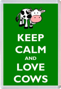 Keep Calm and Love Cows - Jumbo Fridge Magnet - Brand New Gift/Present/Souvenir