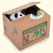 Cute Stealing Black & White Panda Coin Money Box Piggy Storage Saving Bank