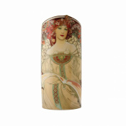 John Beswick 23.5 x 10.5 cm Mucha Art Nouveau Silhouette d'art Vase, Multi-Colour