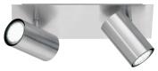 Trio Leuchten 802400207 Bar Spotlight Fixture / 30 cm / for 2 x GU10 Bulbs / Bulbs Not Included / Matte Nickel
