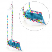 Spotty Long Handled Dustpan and Brush. Polka dot dustpan and brush with long handle for home