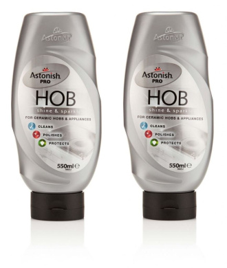 2 X Astonish Hob Ceramic Oven Appliance Cleaner Polishes Protects 550ml