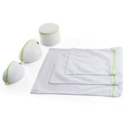 Ioven Essential Laundry Mesh Wash Bag Set With Zipper Closure (Small * 1, Medium * 1, Large * 1, Bra Wash Bag * 3) - Set of 6