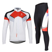 ARSUXEO Spring Autumn Men Cycling Clothing Set Sportswear Suit Bicycle Bike Outdoor Long Sleeve Jersey + Pants Breathable Quick-dry