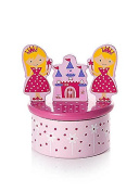 Pink Princess Wooden Music Box for Girls