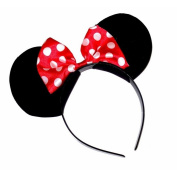 MINNIE MINI MOUSE EARS WITH SPOT BOW HEADBAND HAIRBAND