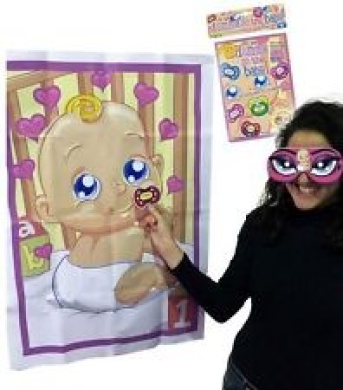 Baby Shower Party Games - Pin The Dummy on the Baby