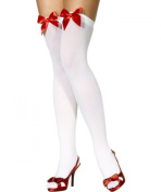 Sheer Desires Hold Up Stockings with bow