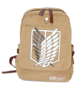 High Quality Attack on Titan Canvas School Bags Canvas Backpack Laptop Backpack