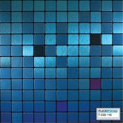 FLEXIPIXTILE, Modern Aluminium Mosaic Tile, Peel & Stick, Backsplash,Accent Wall,0.09sqm,AQUARIUS