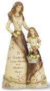 Elements Mother and Daughter Figurine by Pavilion, Copper Accents, 20cm , Inscription a Garden of Love Blooms in a Mother's Heart