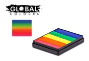 Global Body Art Face Paint - Rainbow Cake Neon Rainbow 50gr