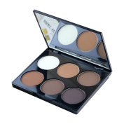 Ucanbe Cosmetics 6 Colour Contour and Highlighting Powder Foundation Palette / Contouring Makeup Kit with Mirror,#2