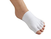 1 Pair Gel-lined Compression Toe Separating Socks Dry Forefoot Cracked Skin Moisturising Protector