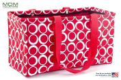 "MDM Large Utility Tote Bag, Organiser, Laundry Bag ""Red & White"""