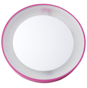 Danielle Mini Suction Mirror with LED Light, Pink