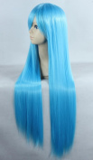 Weeck Anime Long Straight Girl's Hair Party Cosplay Costume Wigs 80cm