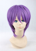 Weeck Shrot Murasakibaru Atsushi Kuroko No Basuke Purple Costume Cosplay Wigs