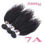 7A 3 Bundles 300g Brazilian Unprocessed Natural Black Remy Virgin Human Hair Weft Extension Kinky Curly 20cm - 80cm BHD