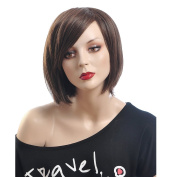 Chinese Bob Wigs for Women Heat Resistant Wigs Short Wigs with Bangs Real Looking Hair Hot Hair Wigs 0022