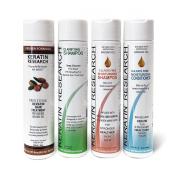 Complex Brazilian Blowout Keratin Hair Treatment Express Formula LG SET 4 Bottles 300ml Kit Includes Sulphate Free