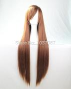 SMILE Wig 80 Cm Anime Cosplay Costume Long Straight Synthetic Hair For Harajuku Dark Brown Beautiful Lolita