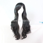 SMILE Wig 80 Cm Heat Resistant Synthetic Hair Long Wavy Party Natural Black Christmas