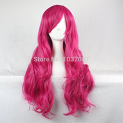 SMILE Wig Harajuku 80 Cm Synthetic Hair Long Wavy Curly Synthetic Women Cosplay Costume Christmas Party Red